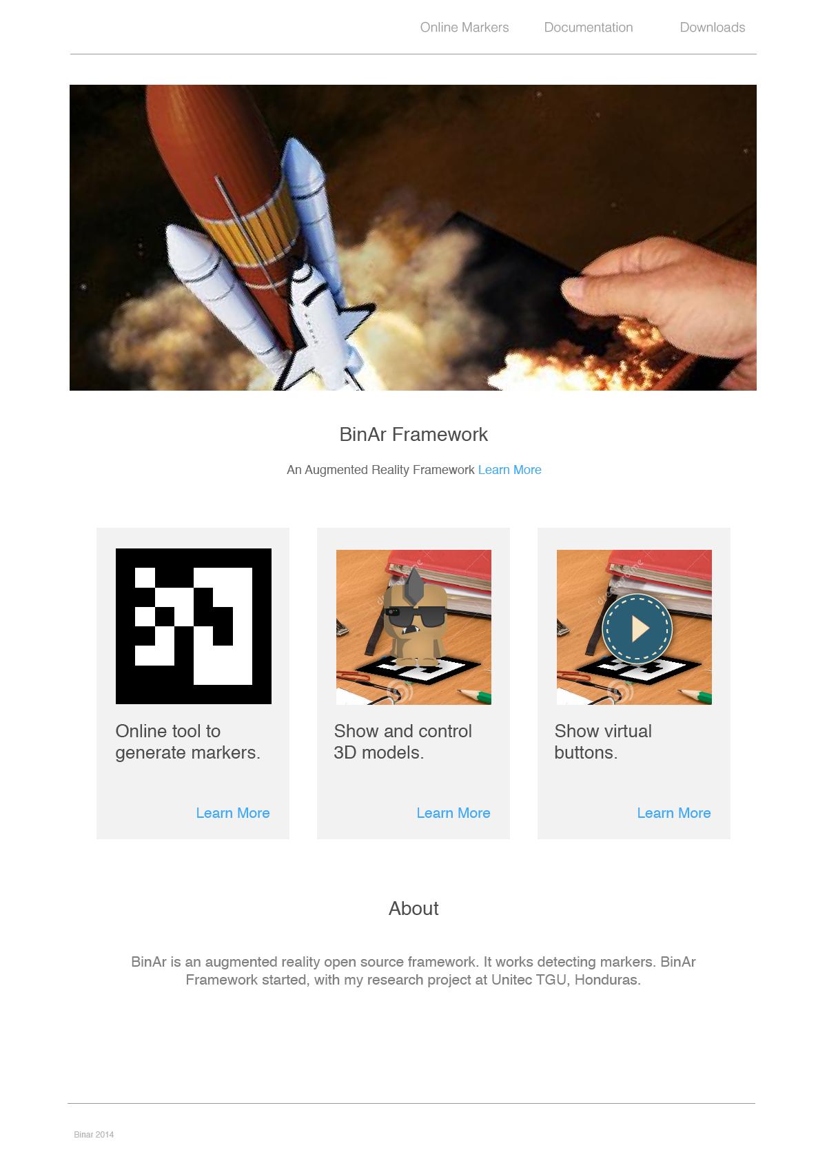 BinAr Framework Website - image 1 - student project