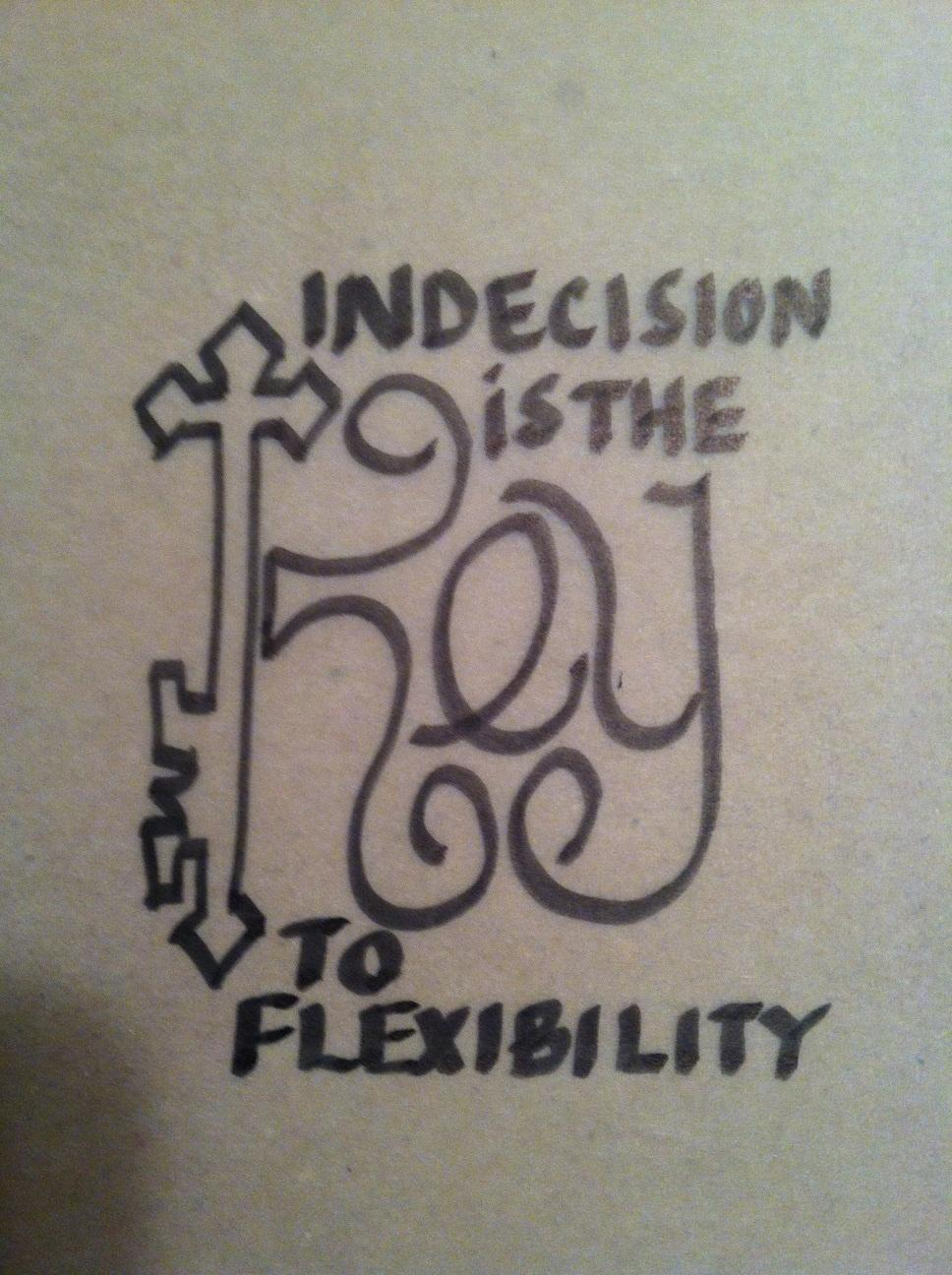 INDECISION is the KEY - image 1 - student project