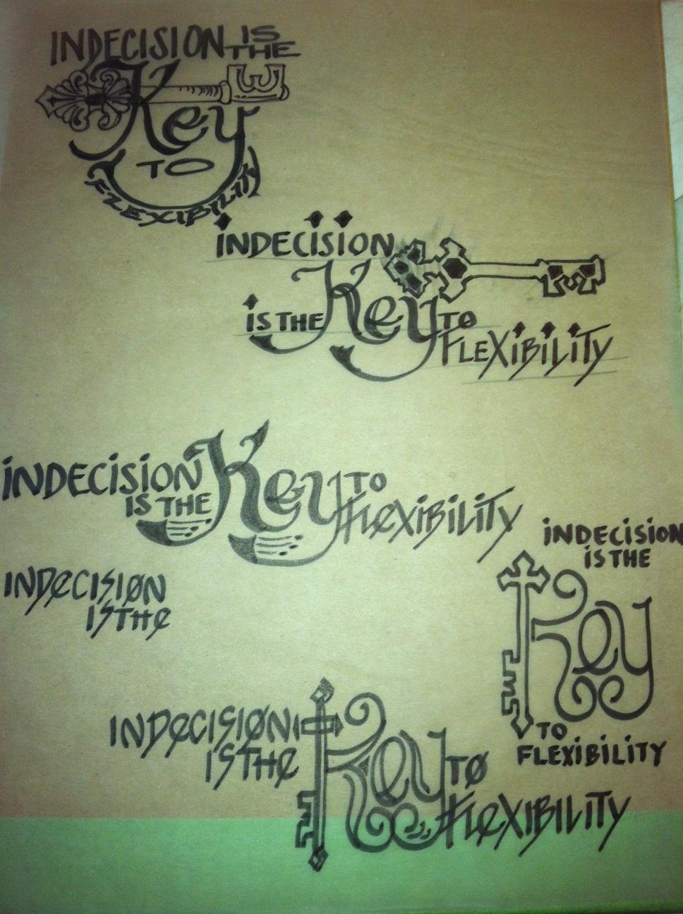 INDECISION is the KEY - image 2 - student project