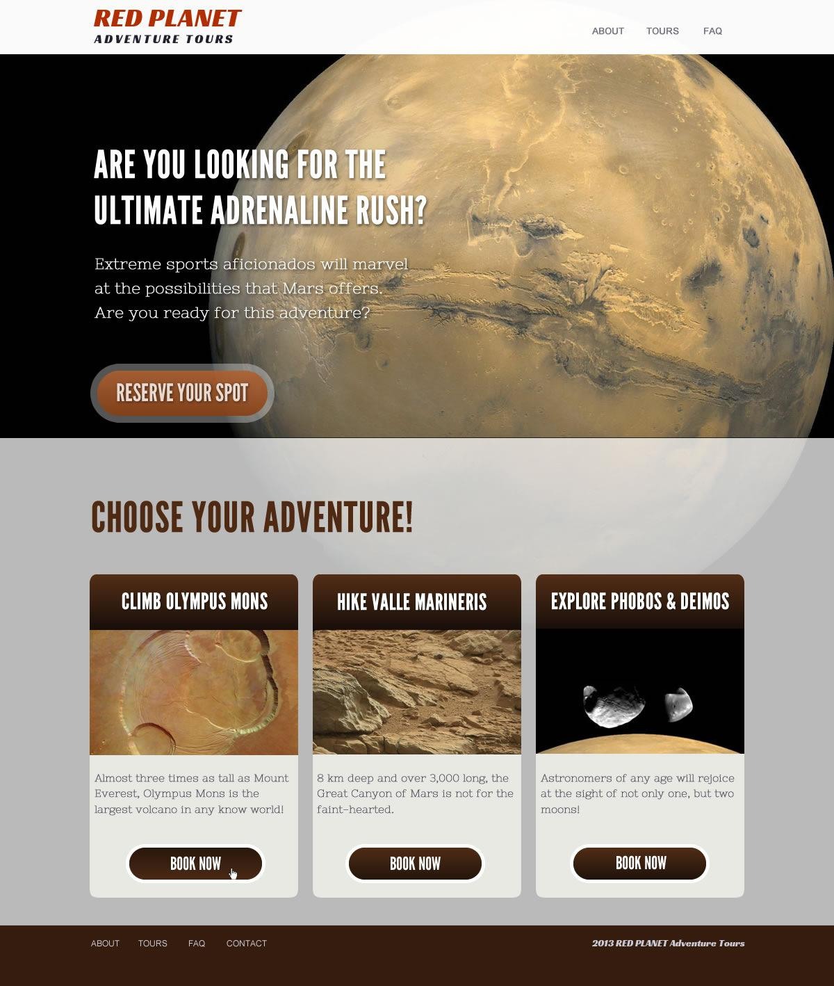 Red Planet Adventures Tours - image 2 - student project