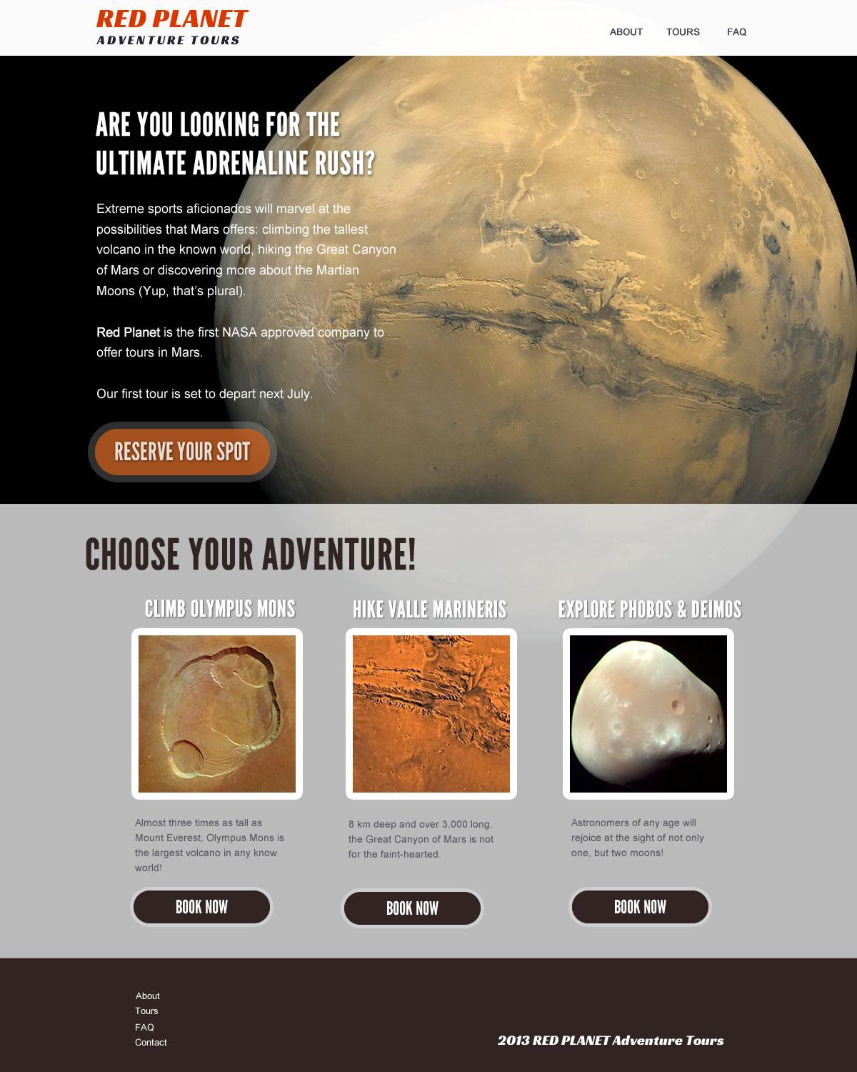 Red Planet Adventures Tours - image 1 - student project