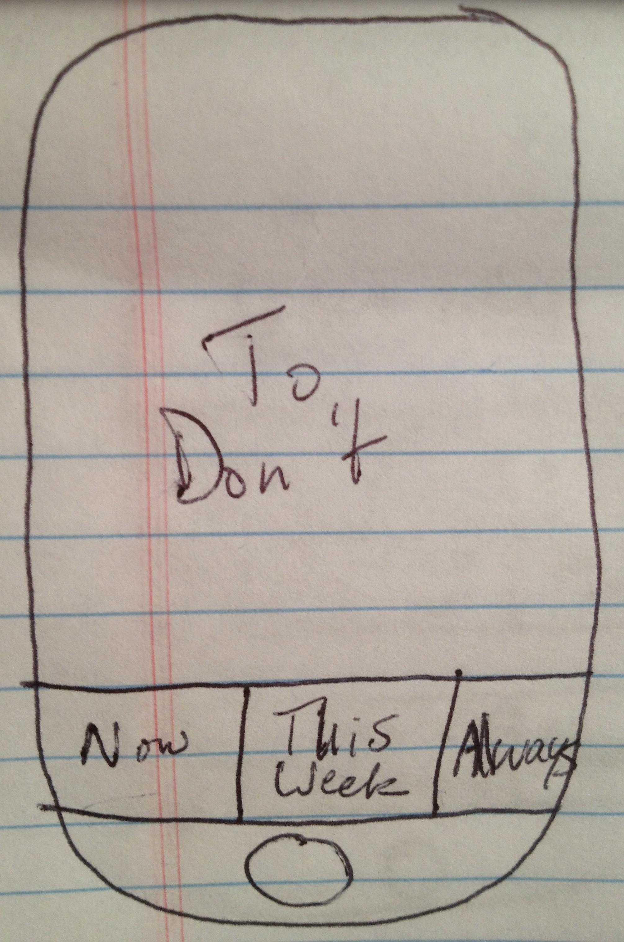 To Don't - image 1 - student project