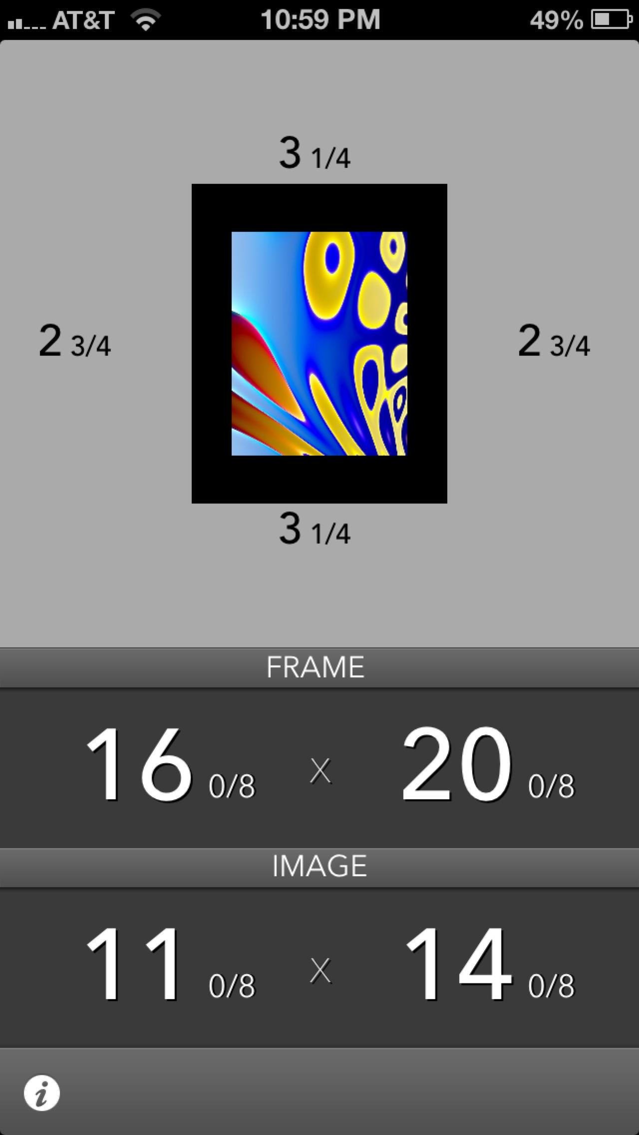 Mat Border Calculator - image 1 - student project