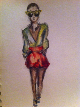 Sketch + Watercolor: Neon Color Blocking - image 1 - student project