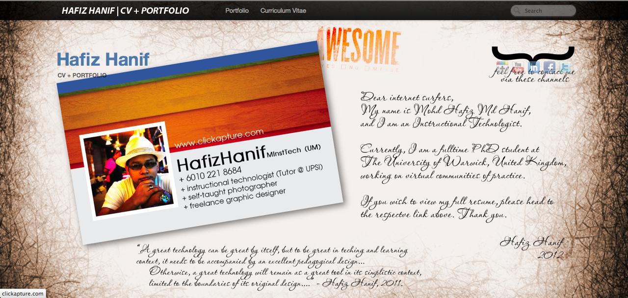 Revamp My CV + Portfolio Site - image 1 - student project