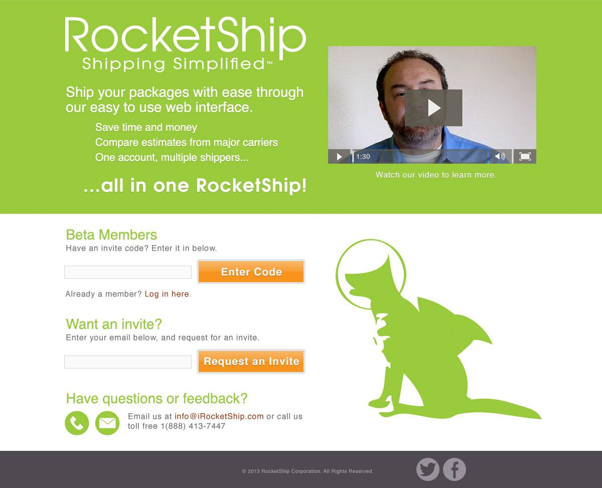 RocketShip Landing Page - image 1 - student project