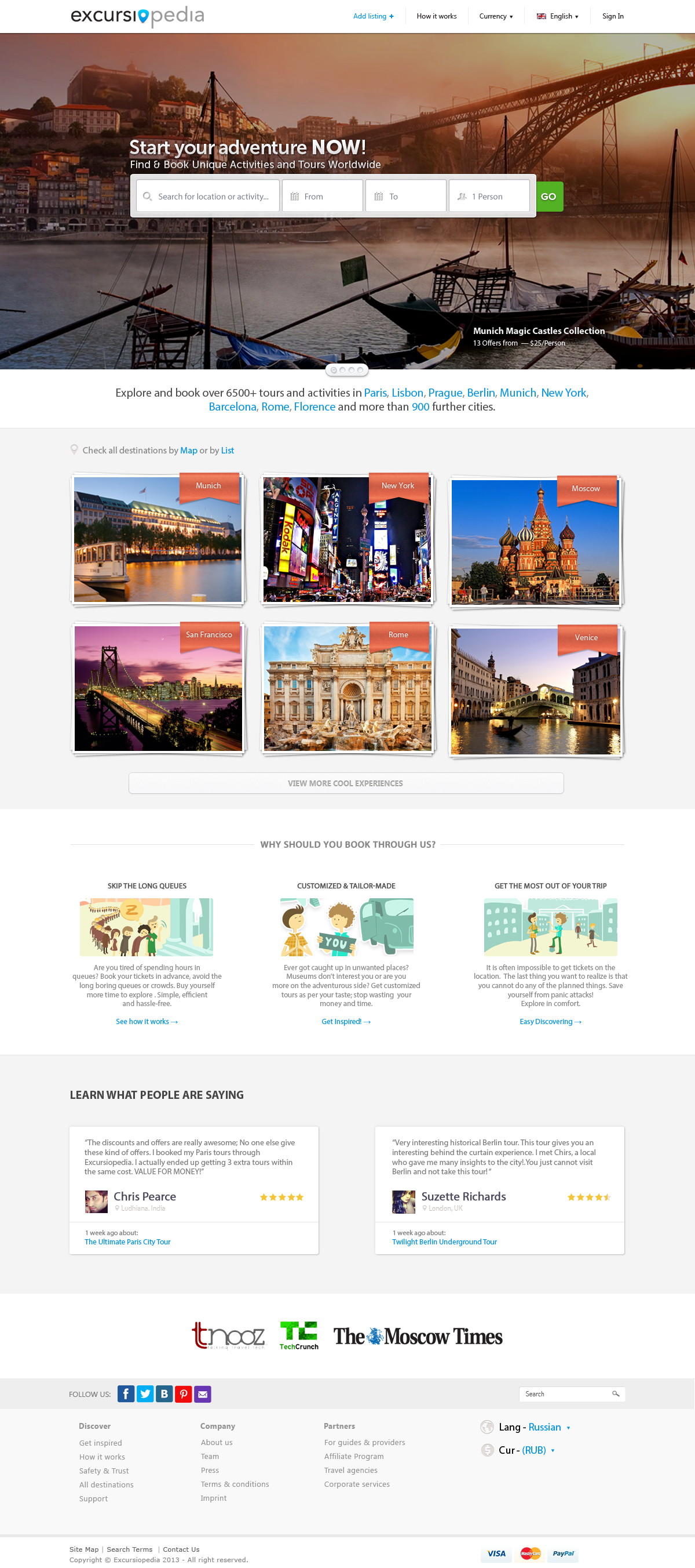 Excursiopedia Landing Page Re-Design - image 9 - student project