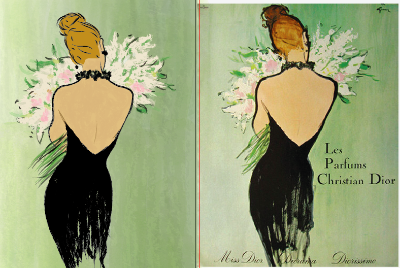 Vintage Dior Poster - image 5 - student project