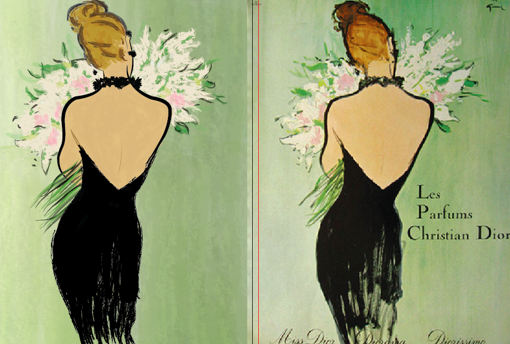 Vintage Dior Poster - image 4 - student project