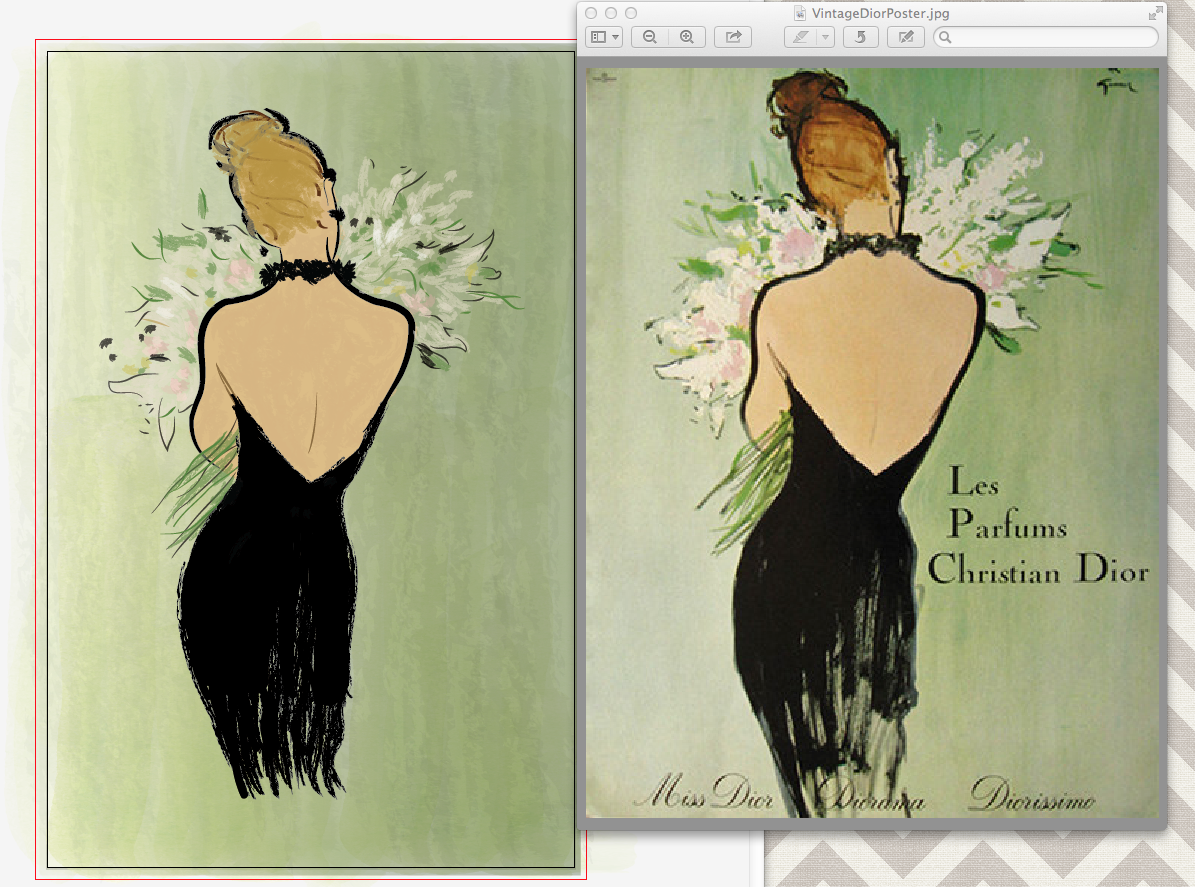 Vintage Dior Poster - image 3 - student project