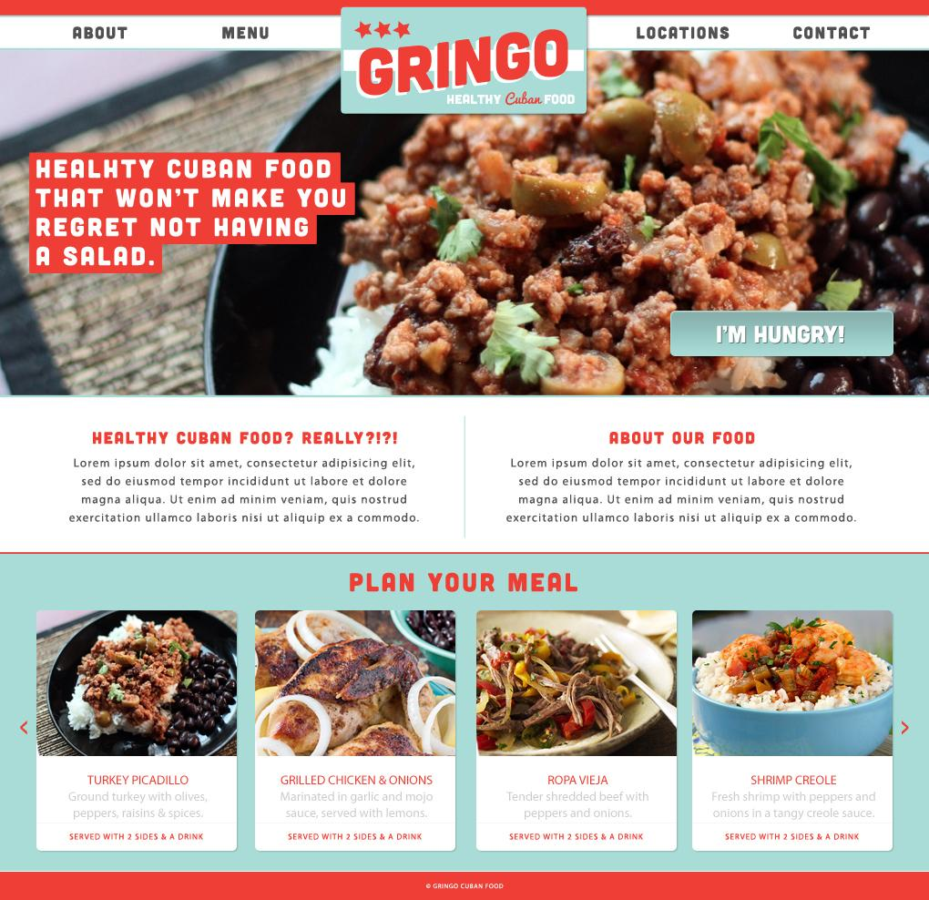 Gringo - Healthy Cuban Food - image 1 - student project