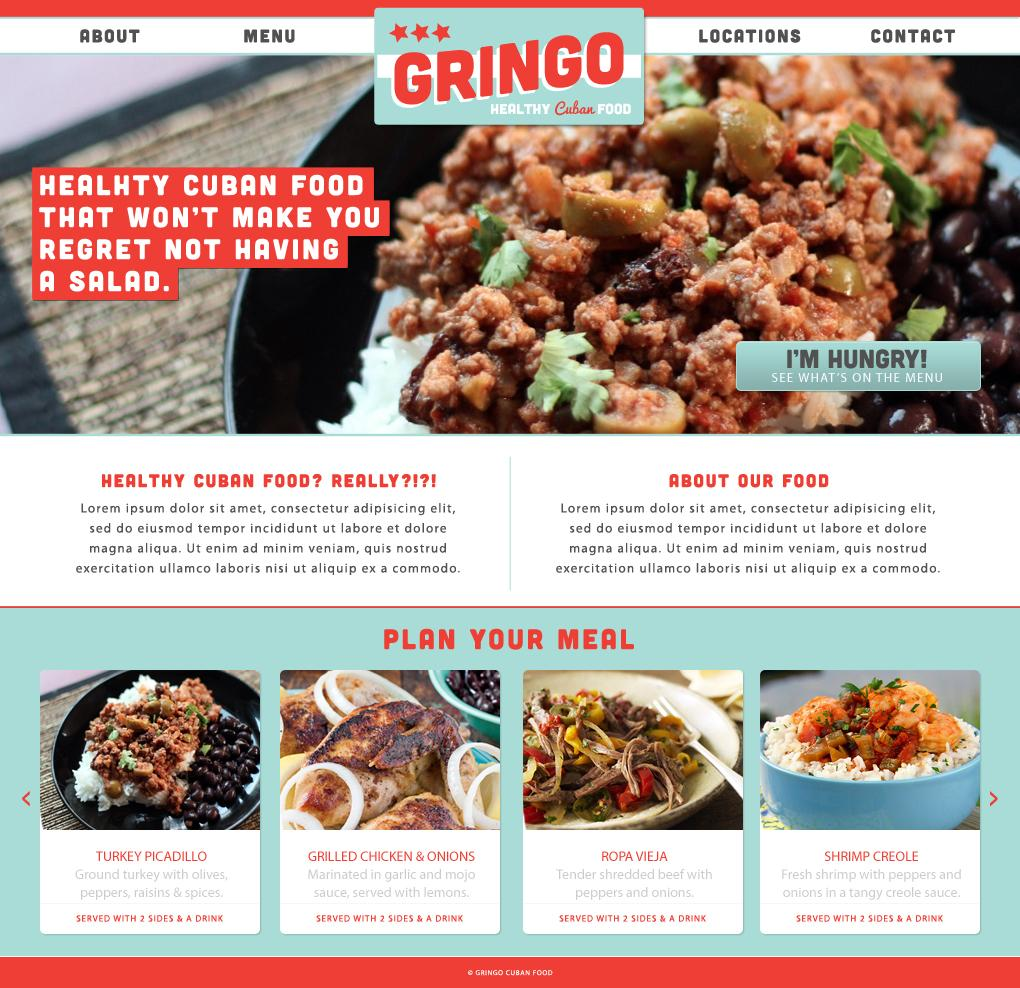 Gringo - Healthy Cuban Food - image 2 - student project