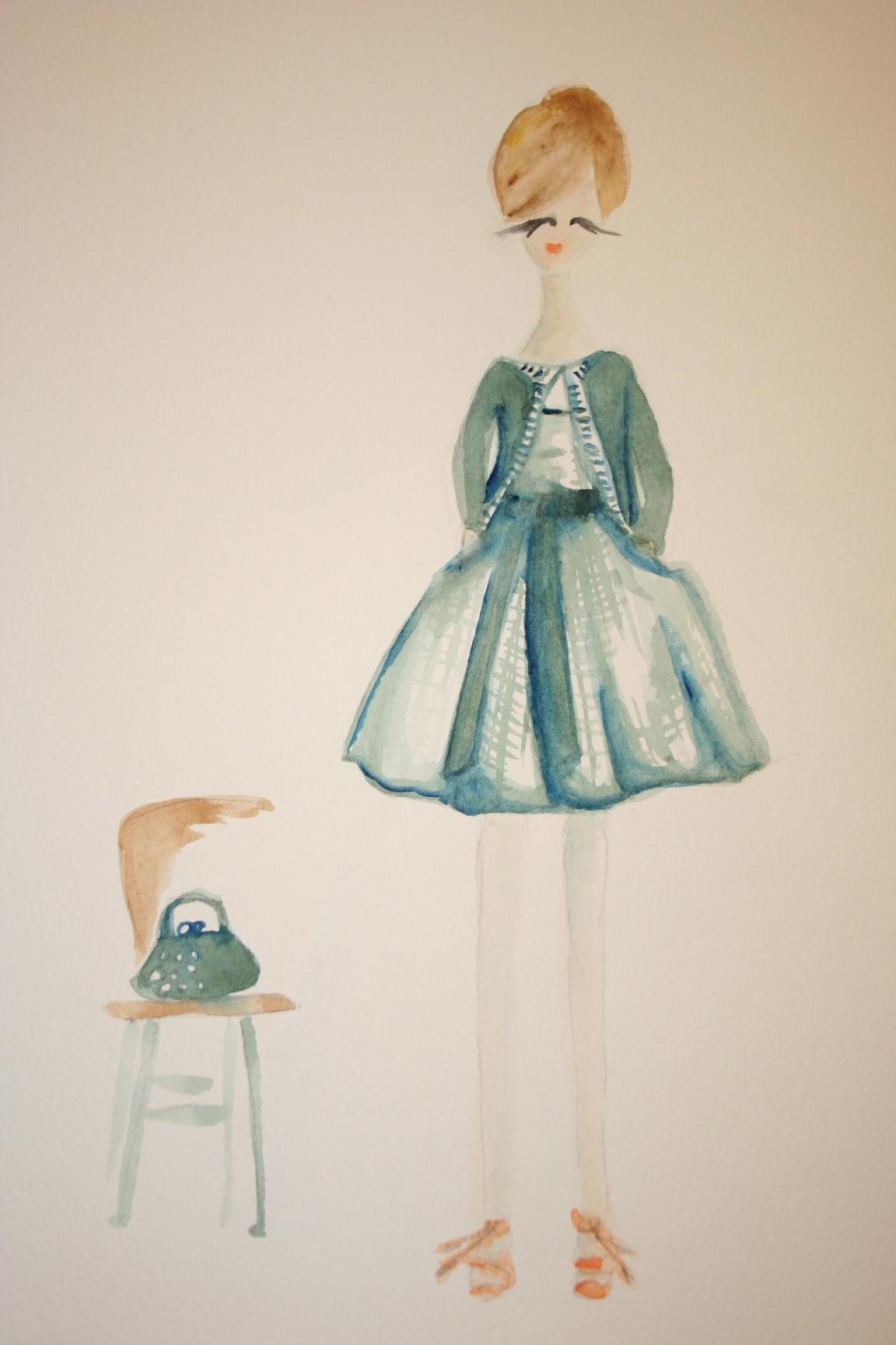Watercolors - Modern mix of vintage glamour. - image 2 - student project