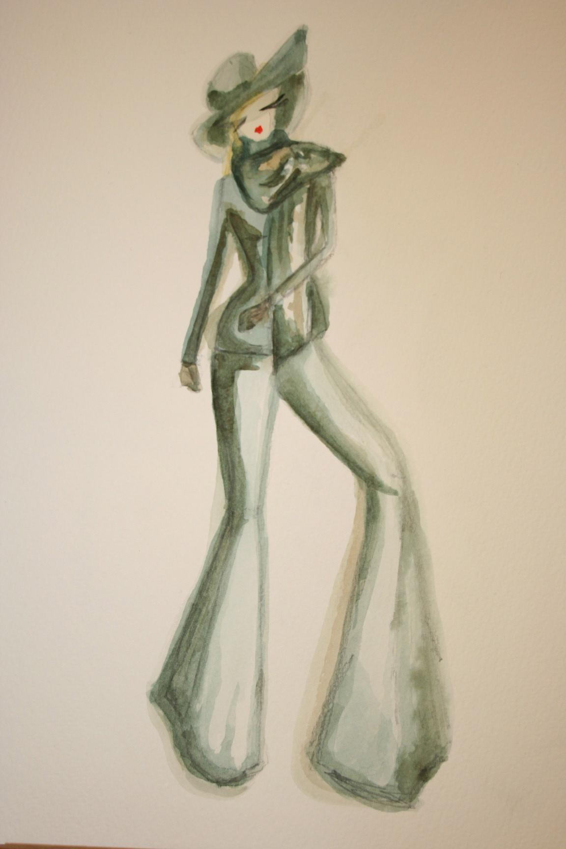 Watercolors - Modern mix of vintage glamour. - image 1 - student project