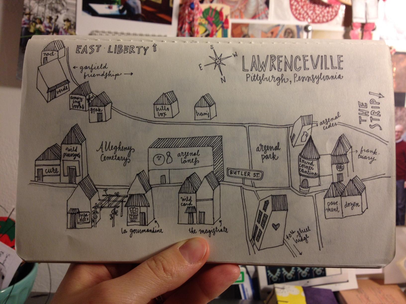 pittsburgh // neighborhoods // drawings  - image 4 - student project