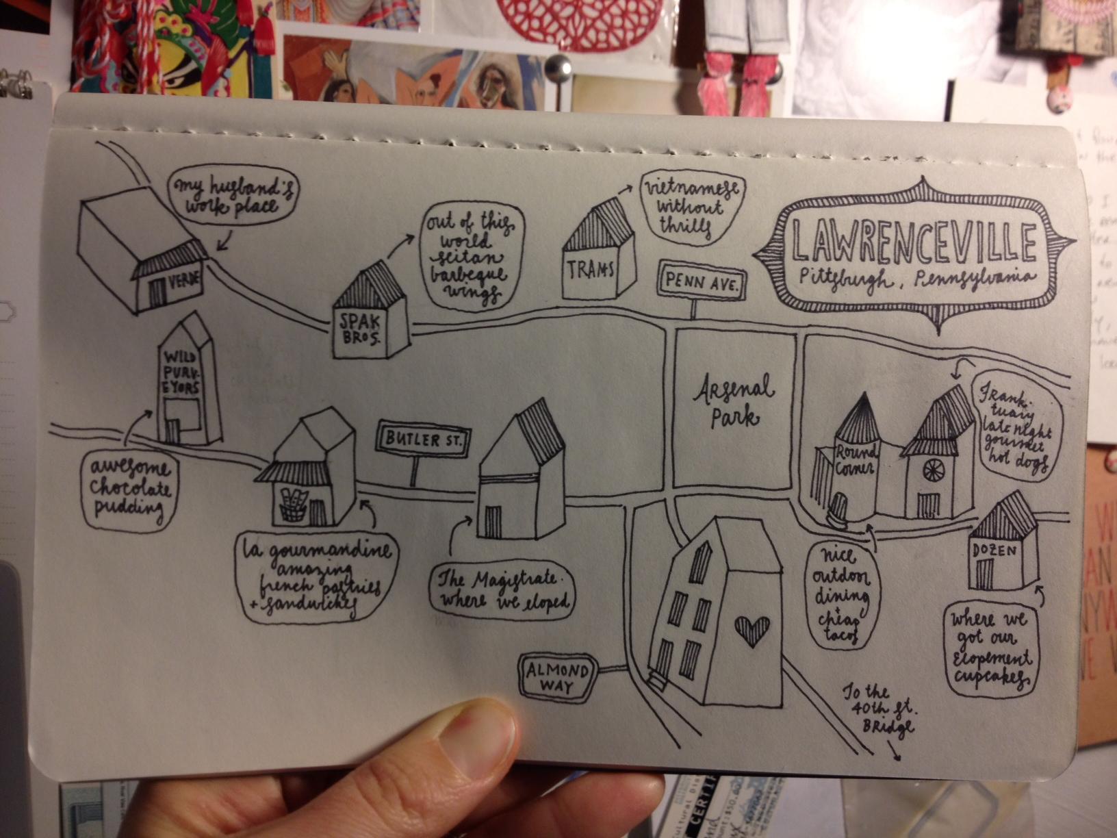 pittsburgh // neighborhoods // drawings  - image 6 - student project