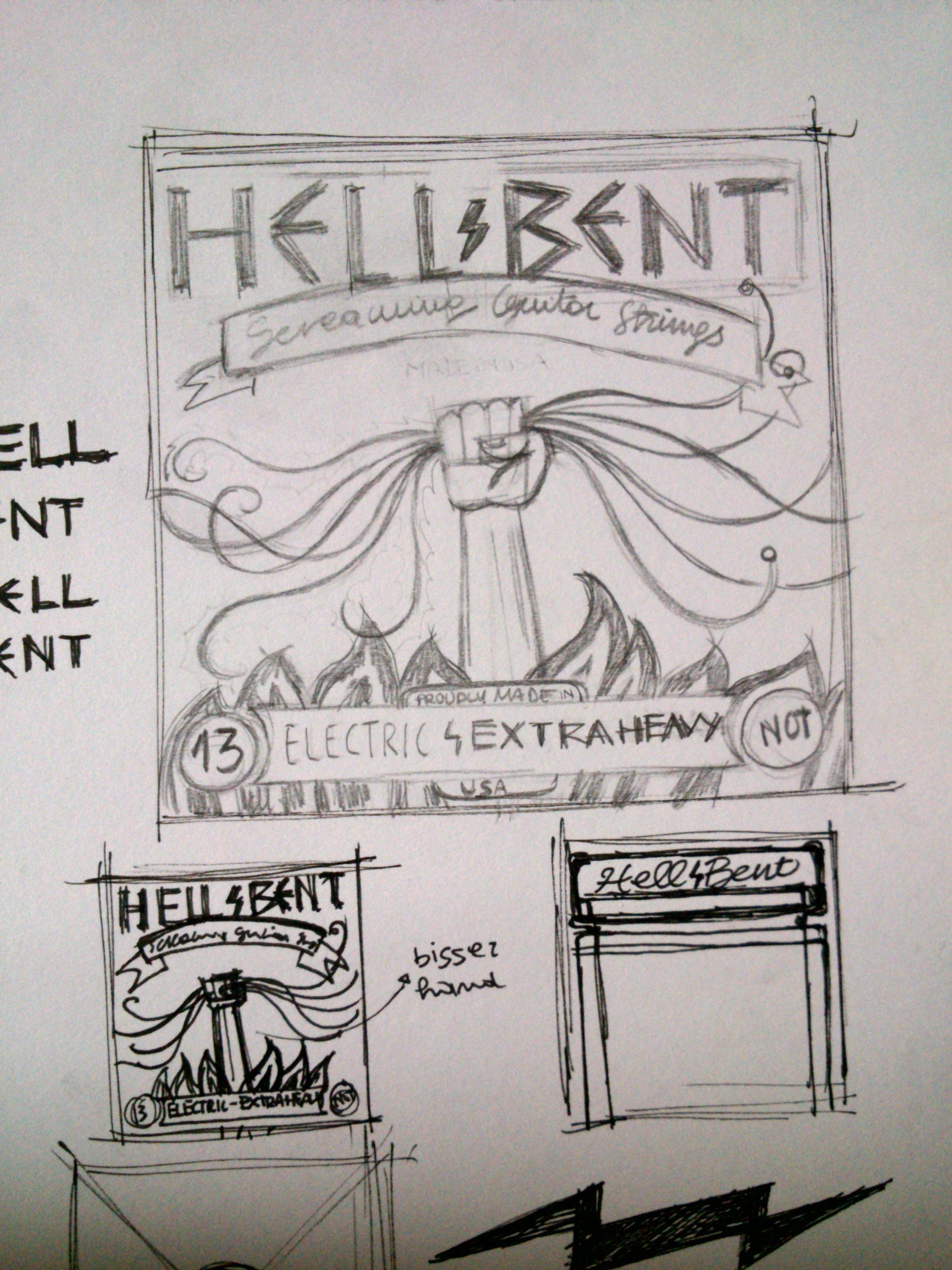 HELL BENT - GUITAR STRINGS - image 5 - student project