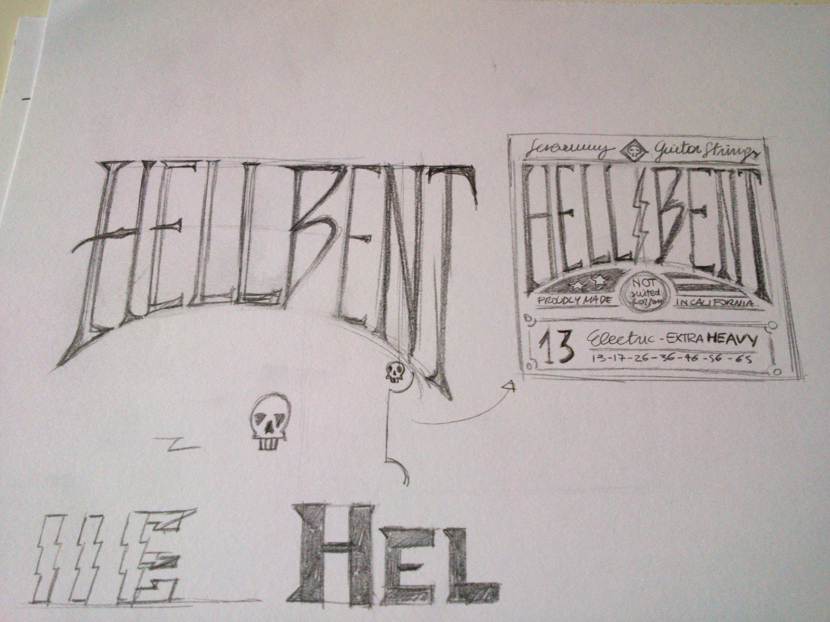 HELL BENT - GUITAR STRINGS - image 2 - student project