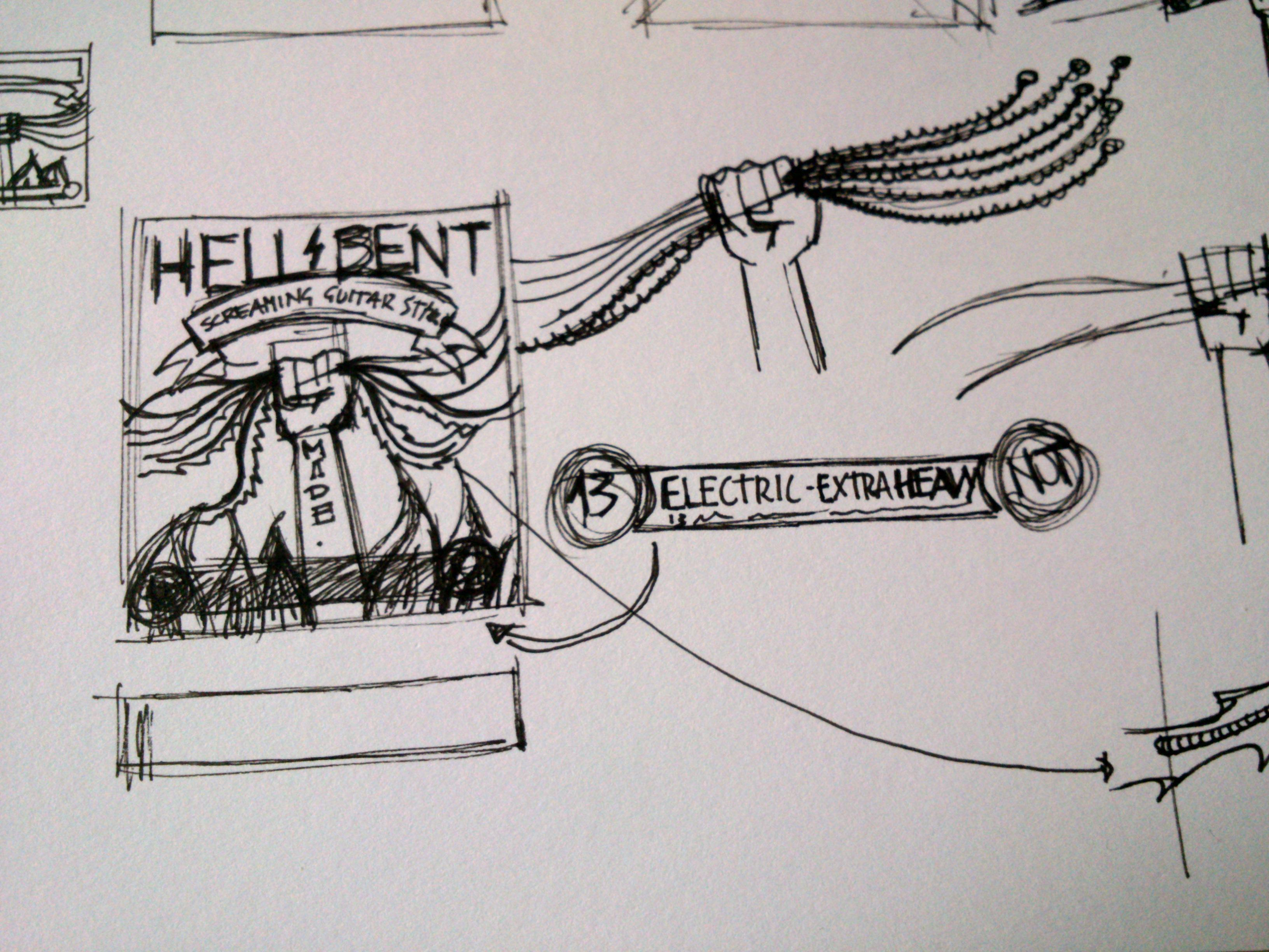 HELL BENT - GUITAR STRINGS - image 4 - student project