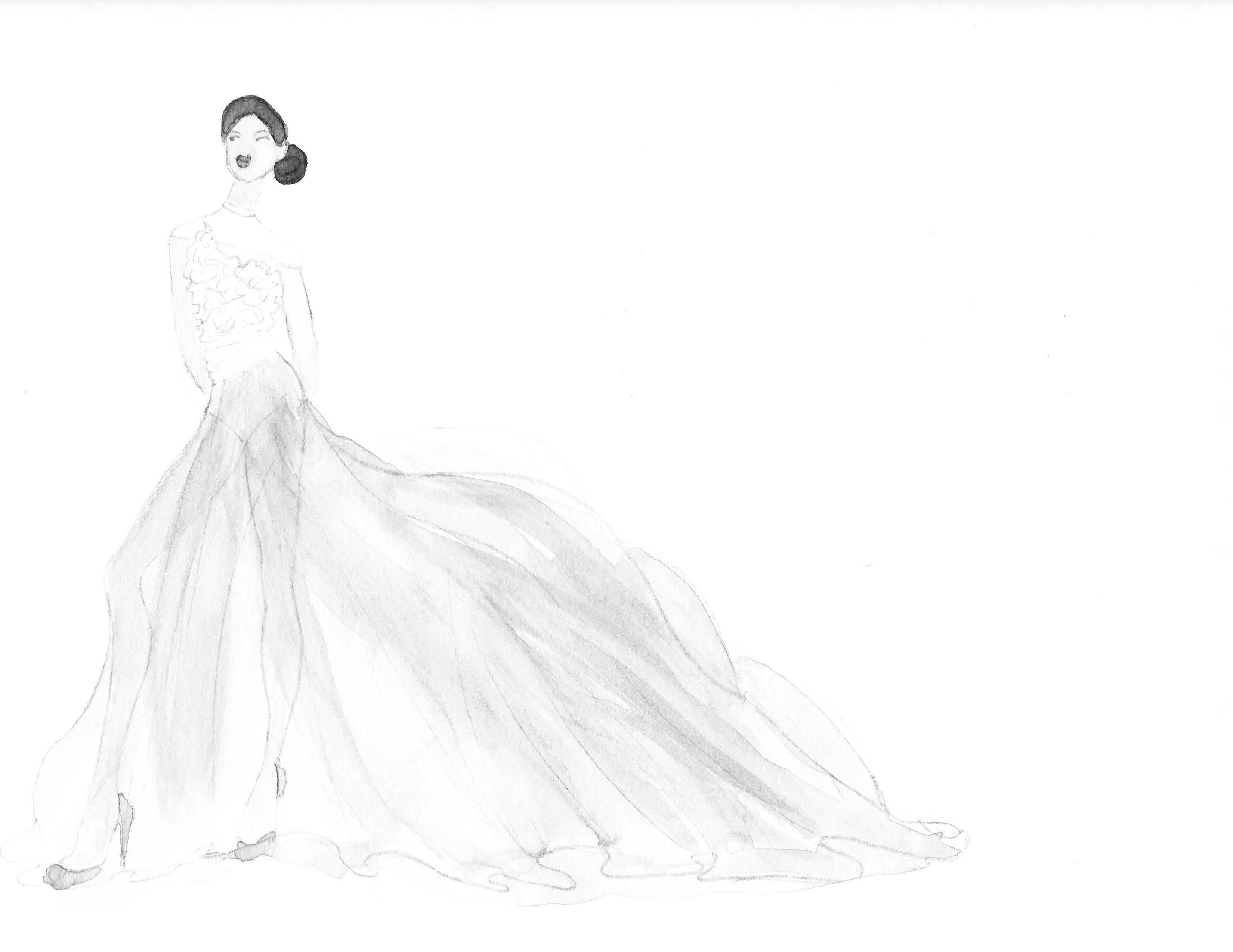 Embellished Watercolor - Sheer Elegance - image 2 - student project