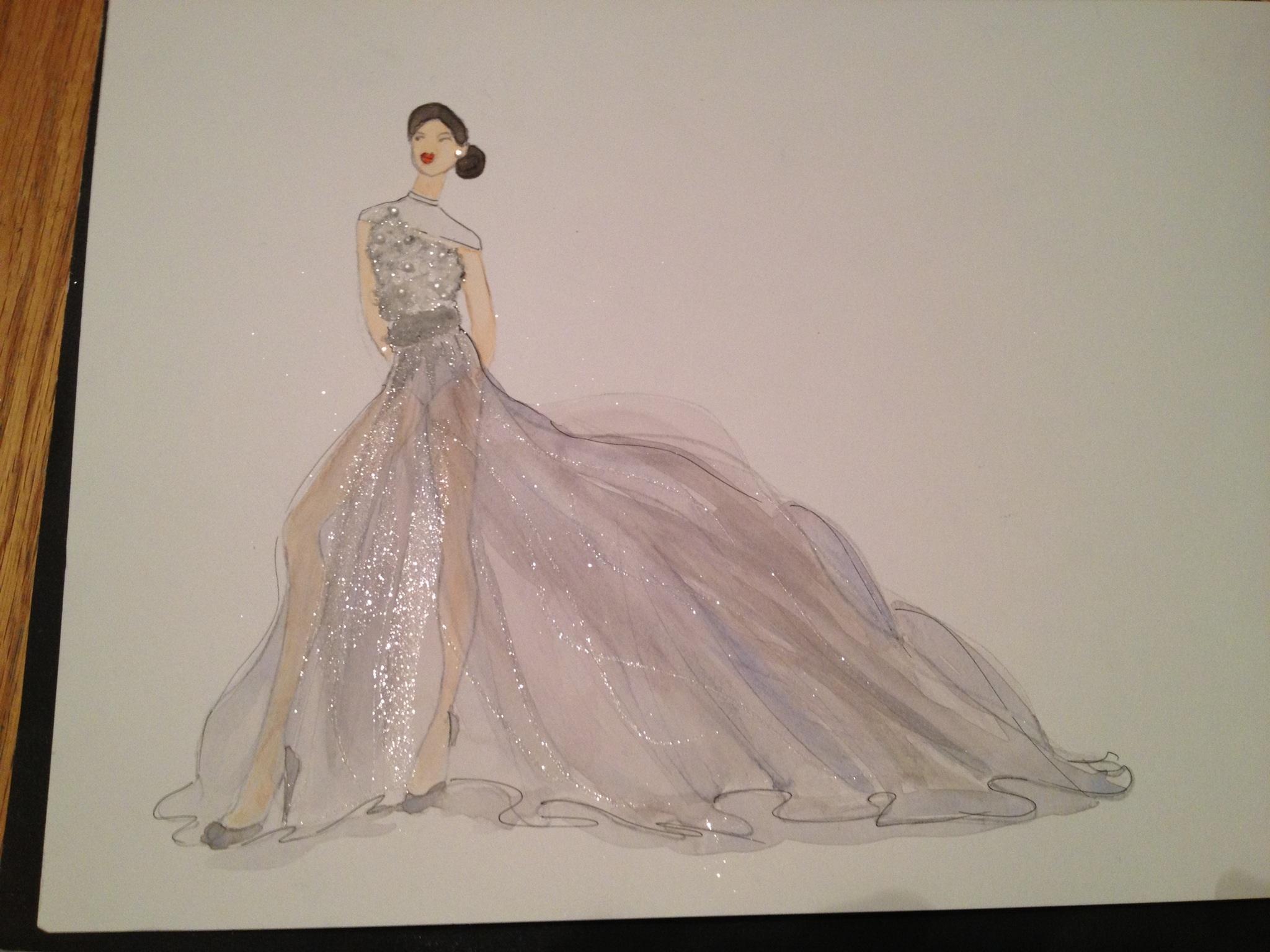 Embellished Watercolor - Sheer Elegance - image 1 - student project