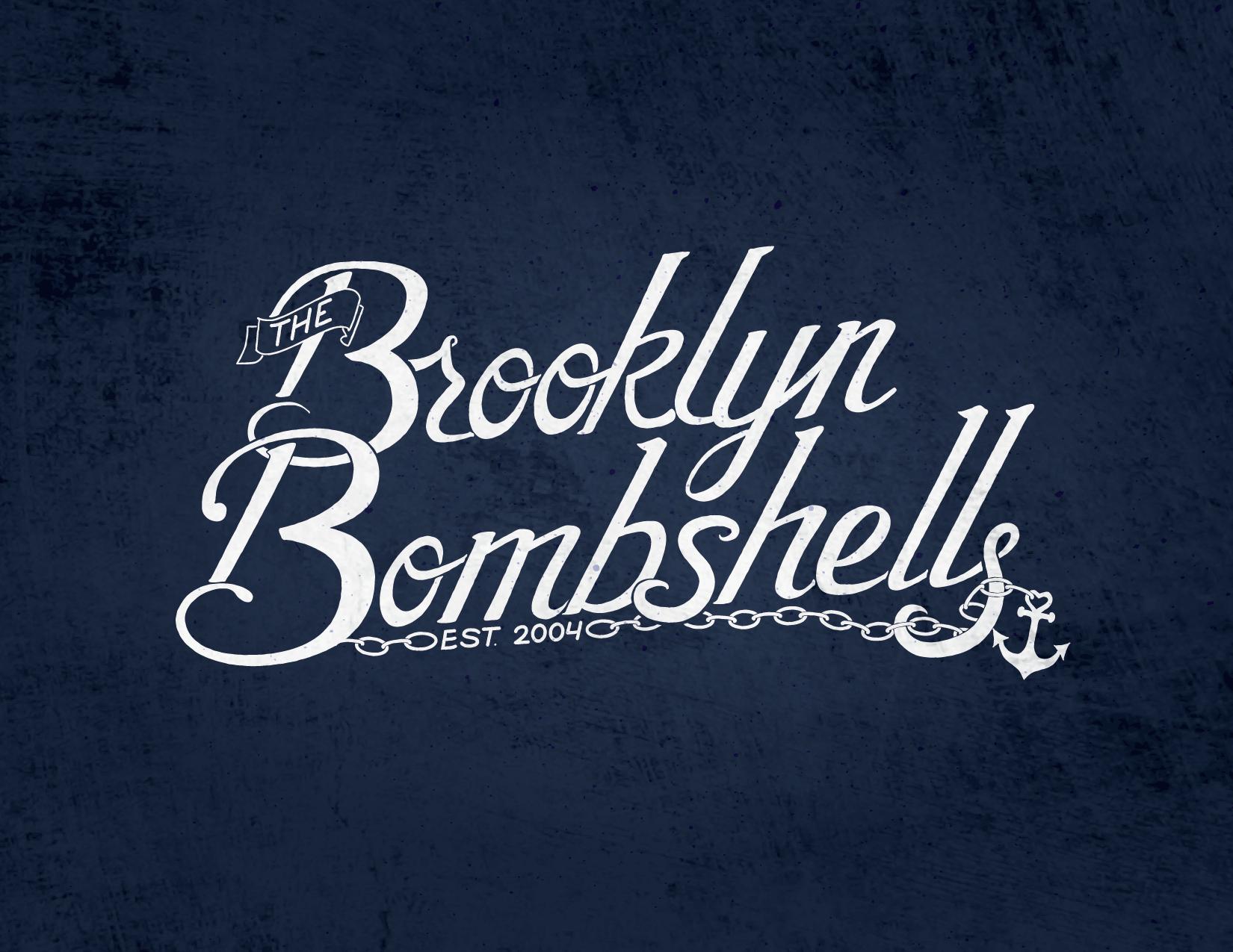 """Brooklyn Bombshells"" script logo - image 2 - student project"