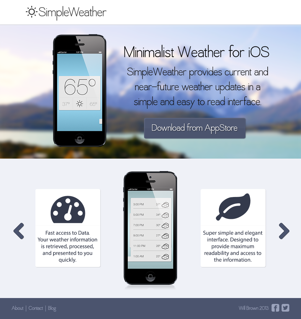 SimpleWeather for iPhone - image 2 - student project