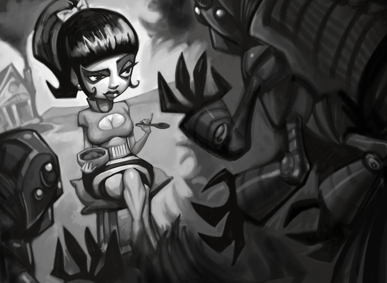 LIttle Miss Muffet and Company - image 1 - student project