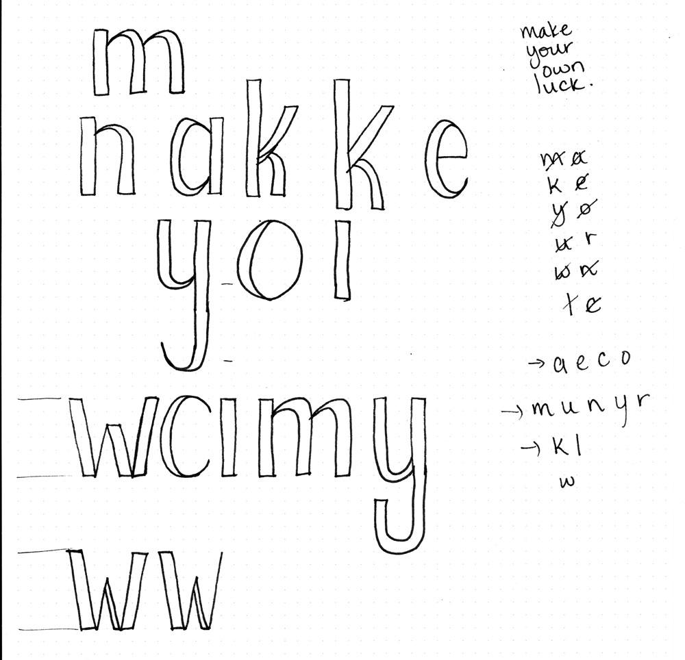 Make Your Own Luck Letterform Study  - image 3 - student project