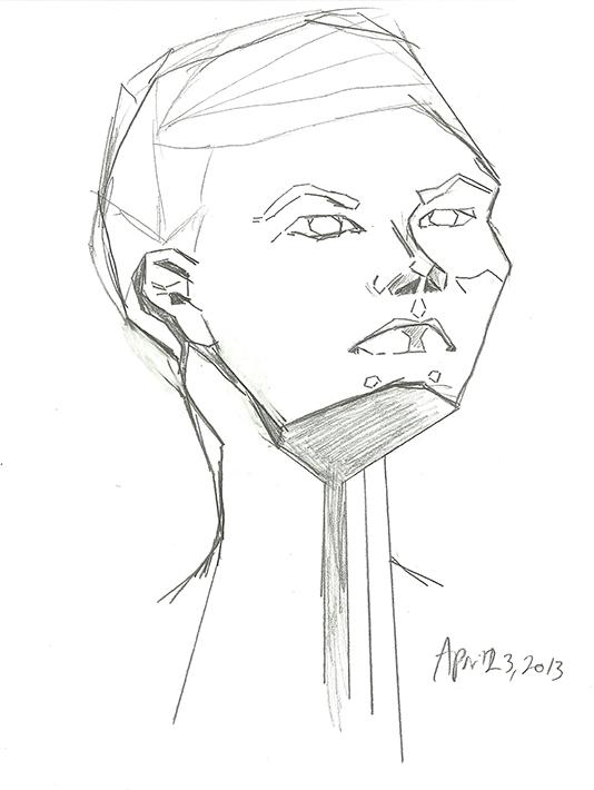 Geometric Face - image 1 - student project