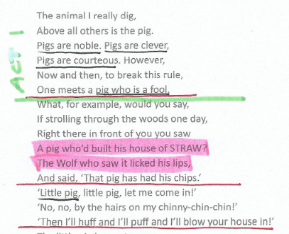 SAMPLE PROJECT: The Three Little Pigs - image 1 - student project
