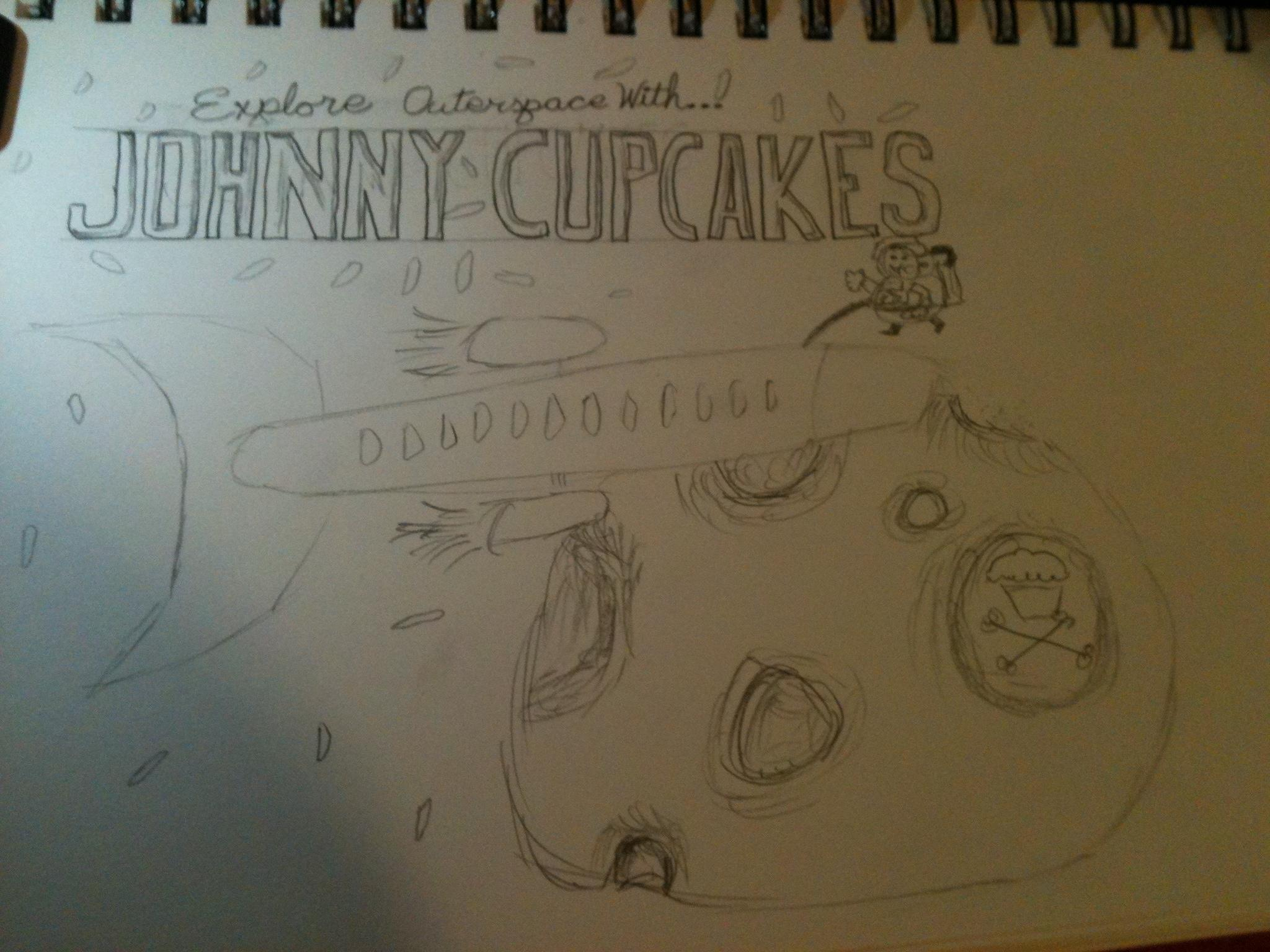 Johnny Cupcakes - Outerspace - image 1 - student project