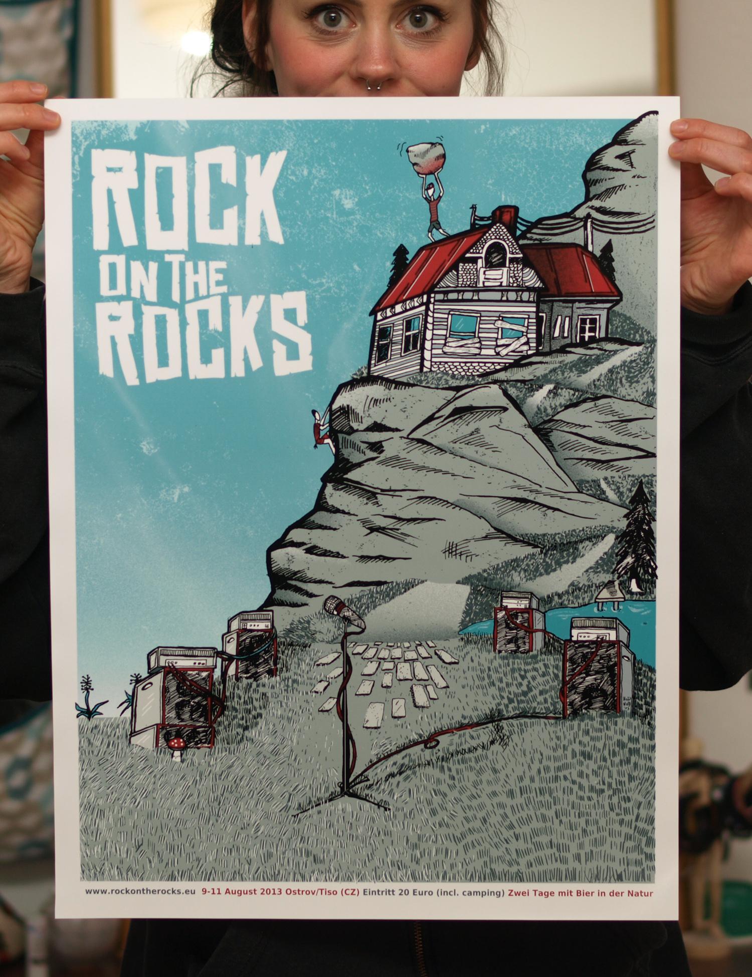3/23 Silk scrren print: Rock on the Rocks Festival - image 3 - student project