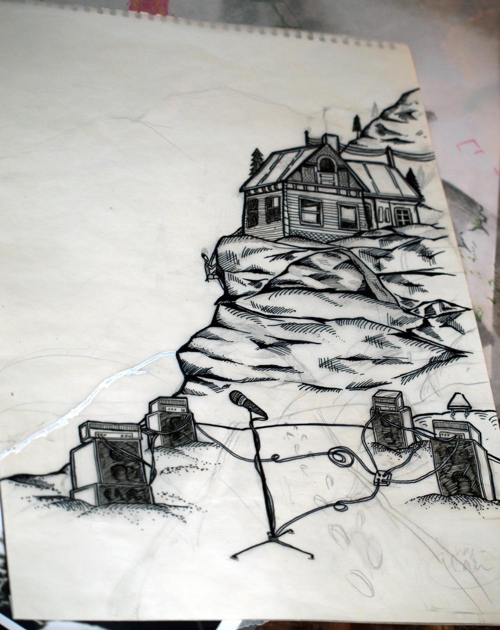 3/23 Silk scrren print: Rock on the Rocks Festival - image 7 - student project