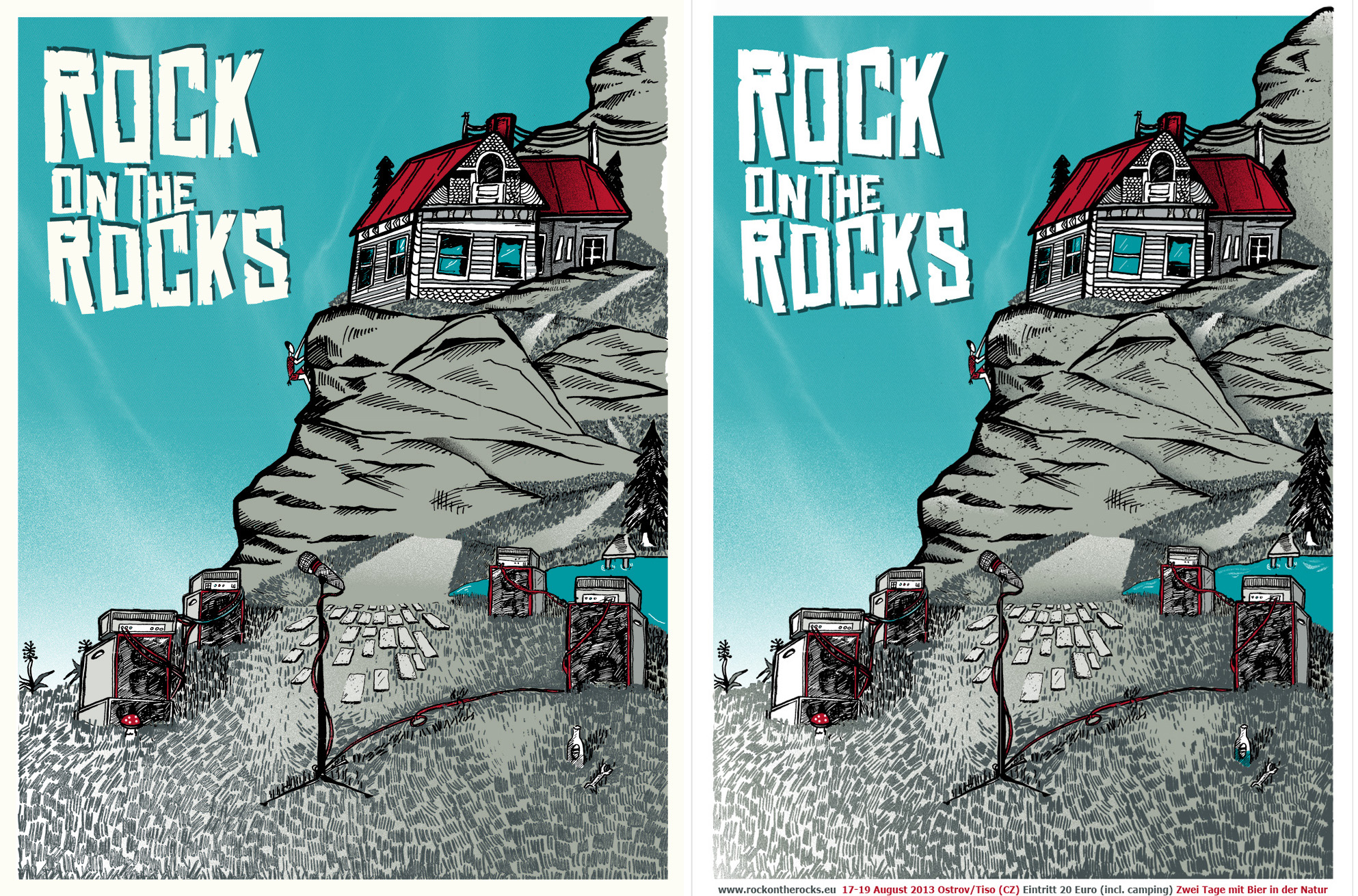 3/23 Silk scrren print: Rock on the Rocks Festival - image 13 - student project