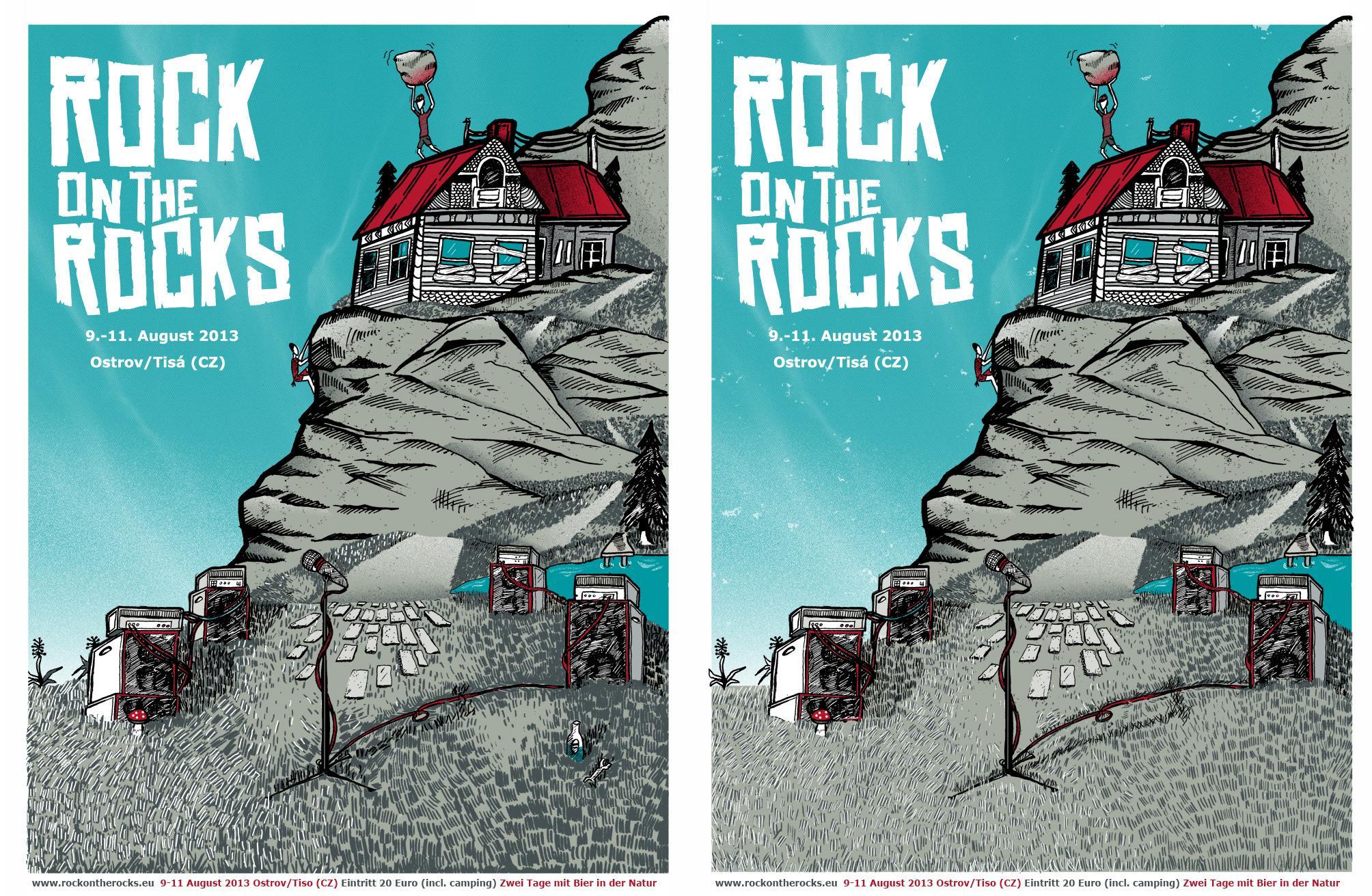 3/23 Silk scrren print: Rock on the Rocks Festival - image 14 - student project