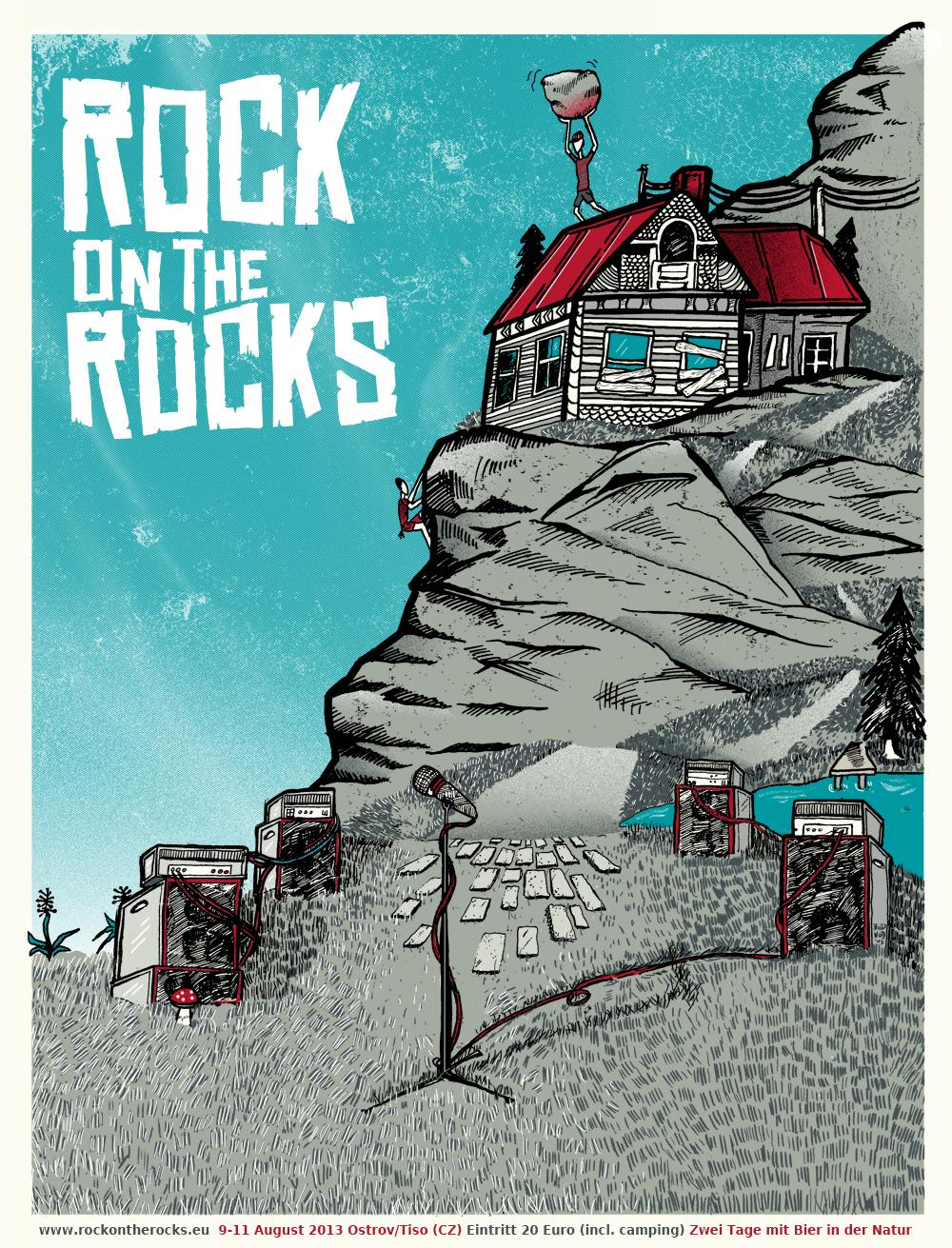 3/23 Silk scrren print: Rock on the Rocks Festival - image 4 - student project