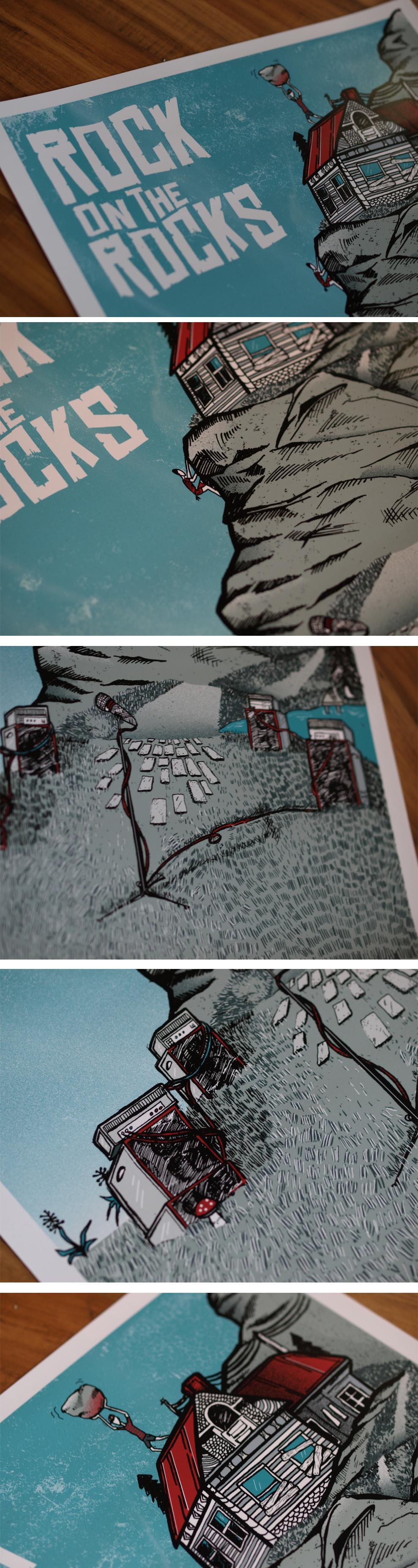 3/23 Silk scrren print: Rock on the Rocks Festival - image 2 - student project