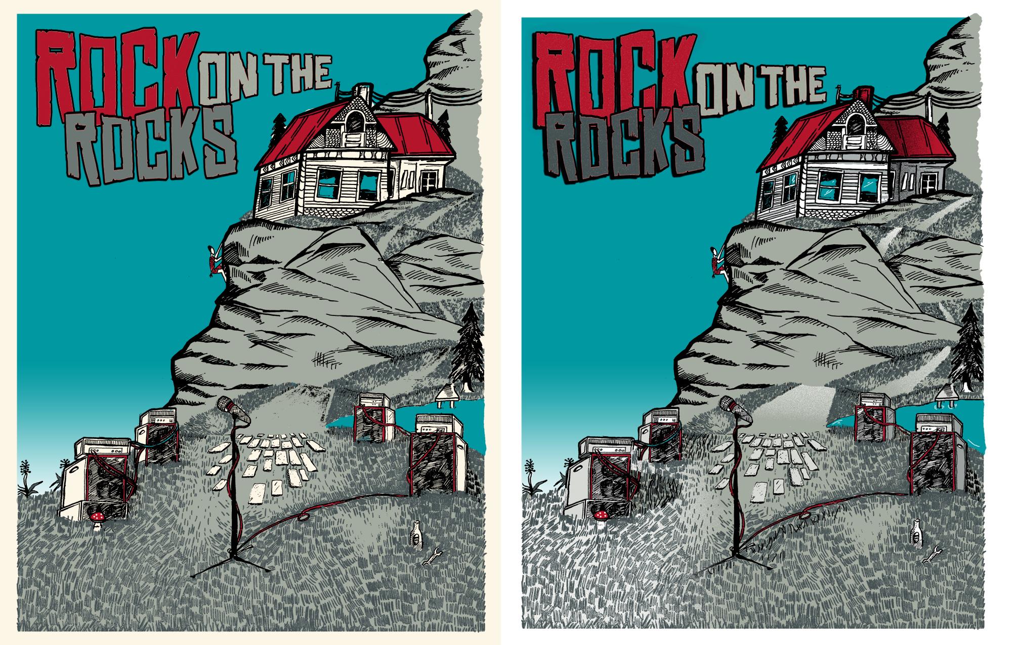 3/23 Silk scrren print: Rock on the Rocks Festival - image 12 - student project