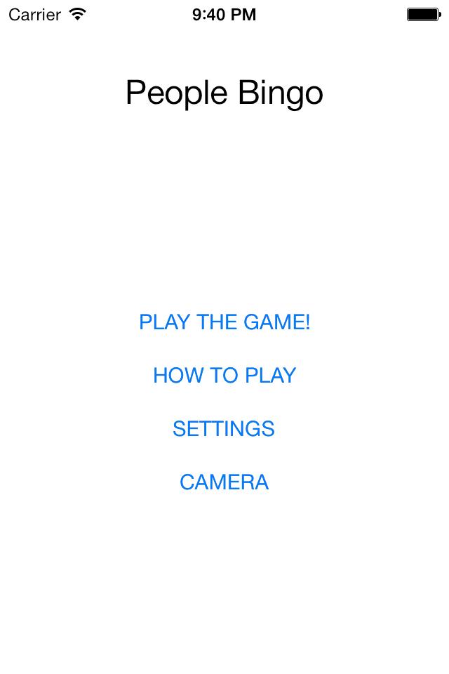 People Bingo - image 1 - student project