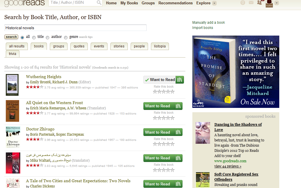 Exploring books on Goodreads.com - image 5 - student project