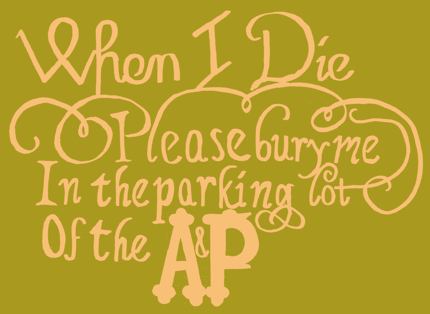 bury me in the parking lot of the A&P - image 4 - student project