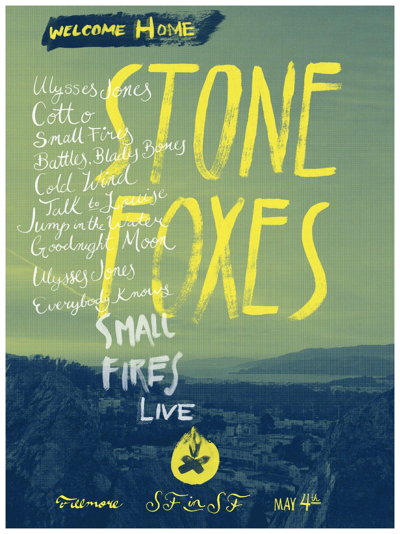 The Stone Foxes - A Homecoming Poster - image 4 - student project