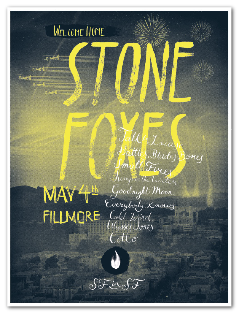 The Stone Foxes - A Homecoming Poster - image 1 - student project