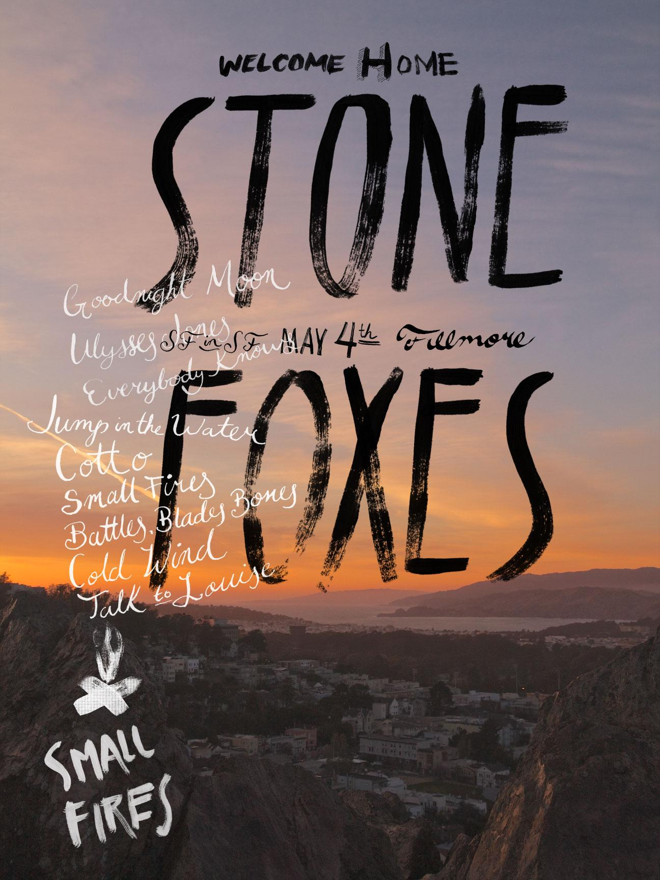 The Stone Foxes - A Homecoming Poster - image 5 - student project