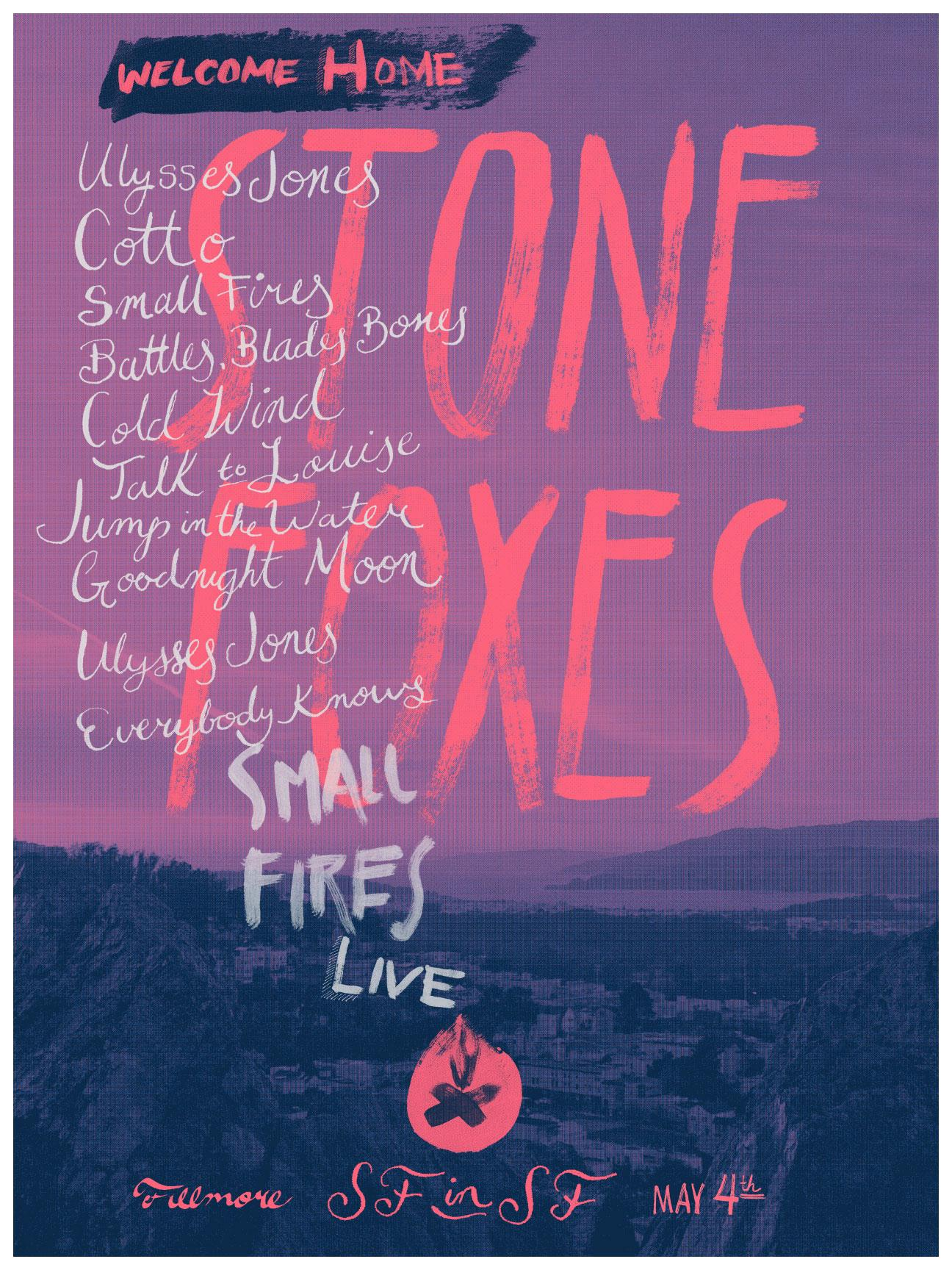 The Stone Foxes - A Homecoming Poster - image 3 - student project