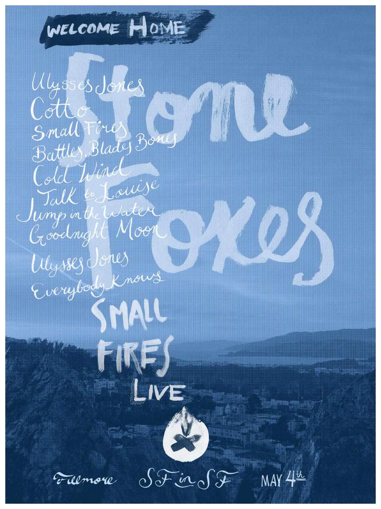 The Stone Foxes - A Homecoming Poster - image 2 - student project