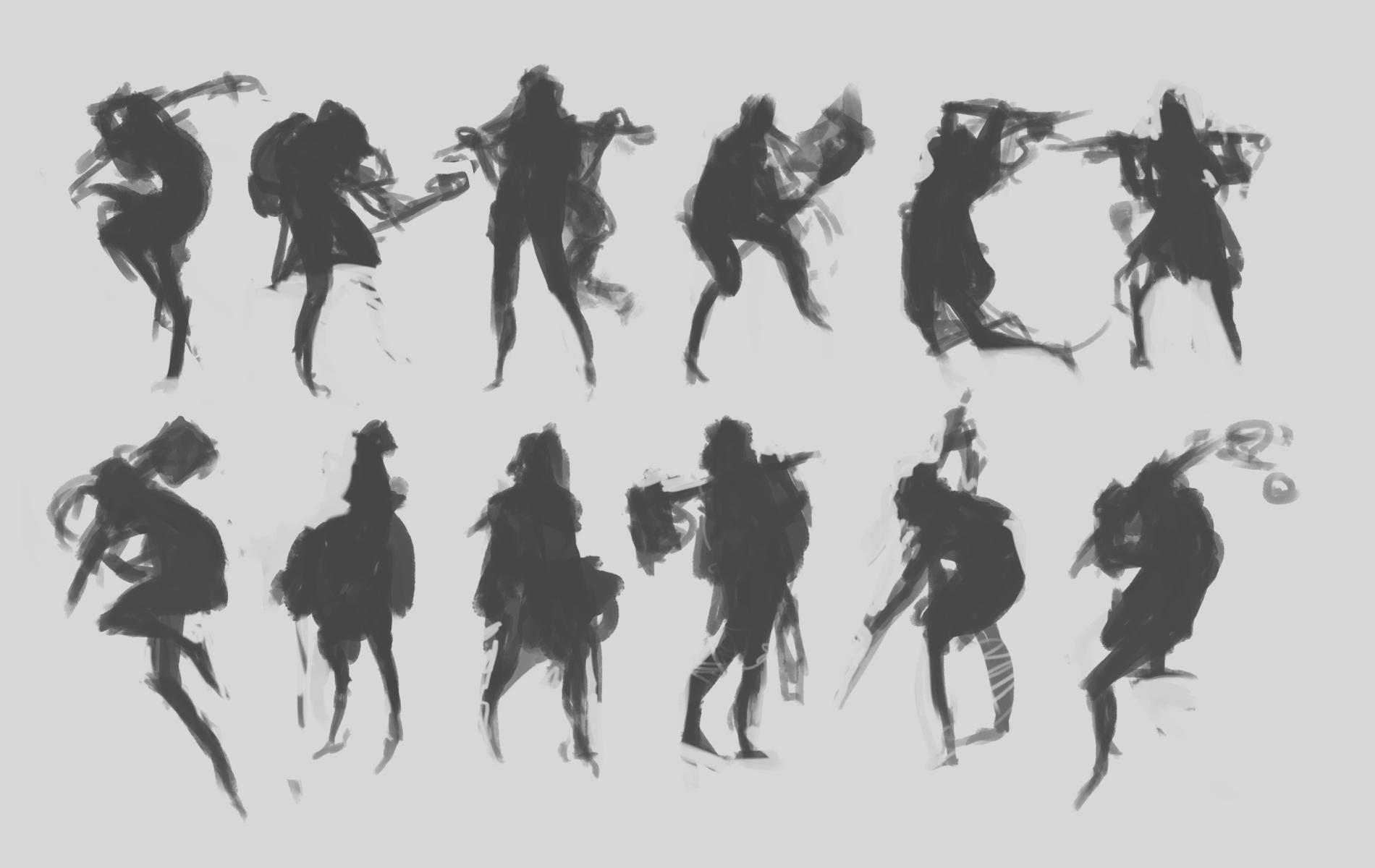 Character Concept Design Process : Character concept art from initial sketch to final design