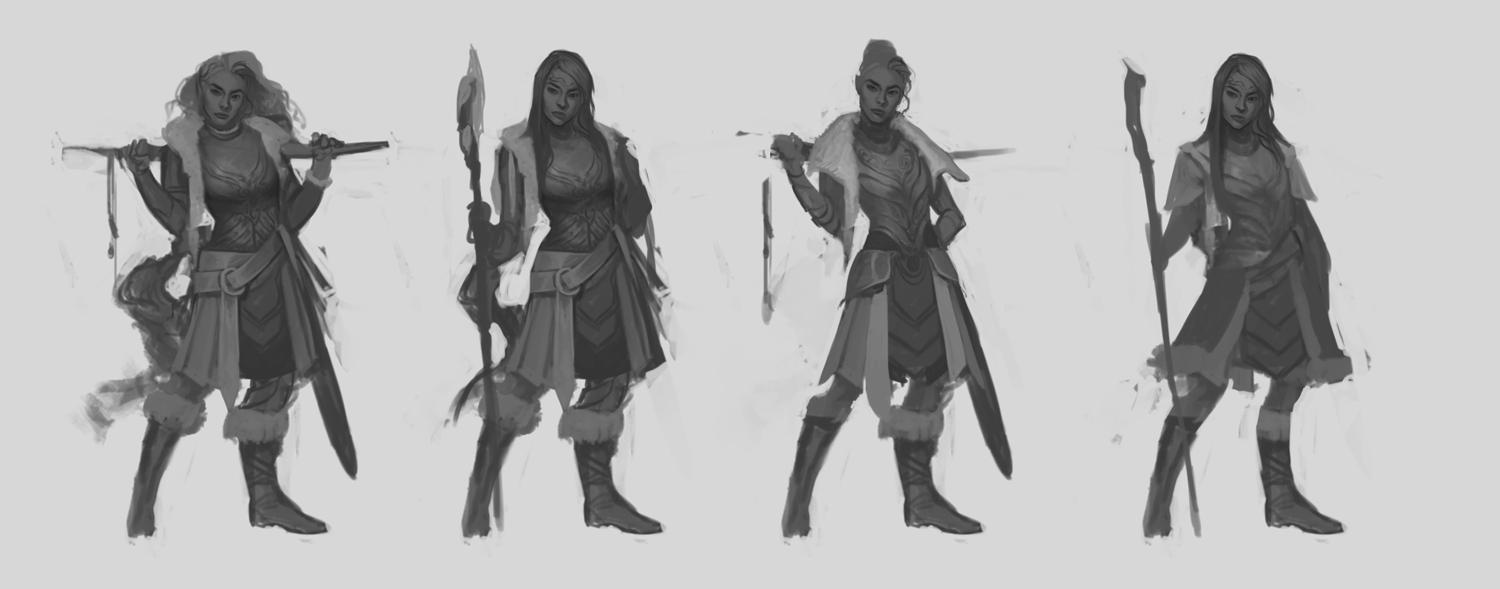Character Design Session : Character concept art from initial sketch to final design
