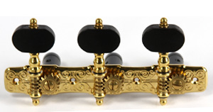 Gotoh Gold Plate Black Button tuners